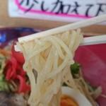 太陽軒 - 冷やし中華の麺。