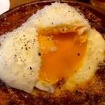 KNOCK - 半熟卵がトロリと滴る!