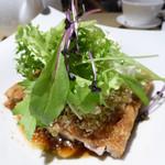 53705361 - 油淋鶏(ユーリンチー) 鶏肉の唐揚げ 香味ソース