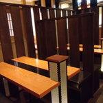 十割蕎麦 道菴 - 広めの4人掛けテーブル