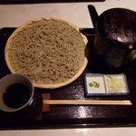十割蕎麦 道菴 - 夜の3000円コース6品目のせいろです。写真が重複しますが麺が少なめの仕上げせいろもあります。