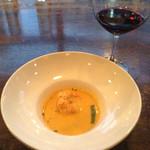 53710520 - 車海老と彩り野菜のビスクスープ 〜濃厚な海老の風味〜