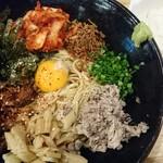 福島壱麺 - サバ背あぶらしぼり混ぜそば 870円
