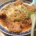 桂花飯店 - エビと青梗菜の冷やし麺。