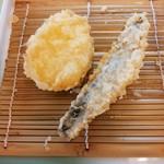 天ぷら倶楽部 - 日替わりA定食のサツマイモ/サンマ