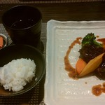 創作料理と京野菜のびすとろ キザノ - ステーキ(一切れ食べちゃいました)