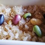 cafe Shizuku - ランチの豆おこわ