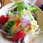 cafe Shizuku - しずくランチセットのサラダ