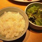肉の郷 ちべ - 選べる焼肉定食(サラダ・ご飯付) 肉代+300円