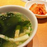 肉の郷 ちべ - ピビンパ定食(スープ・キムチ付)730円