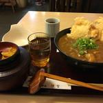 手打ちうどん処 伊賀 - 鶏天カレーうどん定食
