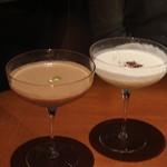 BVLGARI Il bar - チョコレート、ホワイトチョコレートのカクテル