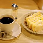 マヅラ喫茶店 - ホット珈琲とサンドイッチのモーニング。