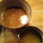 つけ麺屋 やすべえ - スープ割り