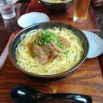 芭蕉庵 - Wソーキそば 大盛り1000円