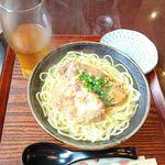 芭蕉庵 - Wソーキそば 普通盛り900円と缶ビール350円