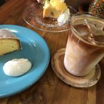 NAGASAWA COFFEE - レモンケーキとアイスラテ