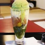 53729177 - 抹茶わらび餅パフェ!!ヾ(≧▽≦)ノ