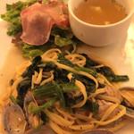 イタリア厨房 シュン・ヨコハマ - あさりとほうれん草の和風パスタ