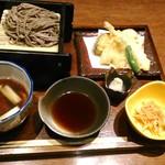 入母屋 - [料理] 鴨セイロ天麩羅御膳¥1,350 セット全景♪w