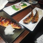 53734850 - 焼き魚もあります。サバとイワシ。