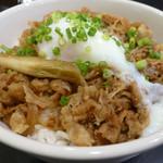 レストランMOJISHO - 伊万里牛 牛すき丼+温泉卵