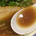 清麺屋 - 鶏のまばたきとこ豚らーめん(790円)スープ
