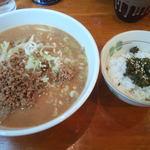 53744749 - 味噌ラーメン+高菜ご飯セット (850+150円)