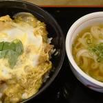 麺や ほり野 - カツ丼セット830円。麺の増量が無料なのもポイント高いです。