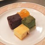 ホテル安比グランド - 抹茶とあずきのケーキ、林檎のタルト、ベイクドチーズケーキ、ブラウニー