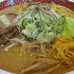 麺屋 朱雀 - 味噌大盛+ネギ