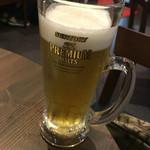 備長七輪焼肉牛蔵 - 生ビール(香るエール)480円(+税)