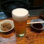 53759686 - ビール、600円・お通し、350円