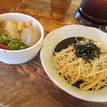 53761844 - 伊予路味噌つけ麺-2玉を1玉にして代わりに味玉入りVer.(2016/7)