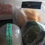 岡の家 - 料理写真:シュークリーム、水まんじゅう、麩まんじゅう