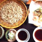 53764038 - わさび蕎麦と野菜のてんぷら
