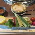 53768392 - 自家製ざる豆腐・スティックサラダ                       H28.6月