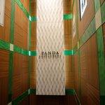 パンダ レストラン - 階段を降りていくとお店があります☆