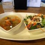 ピッツェリア ポルコ - スープ&サラダ(2016.6)