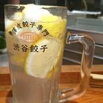 渋谷餃子 - 最強レモンサワー♥ ^_^)/▼☆▼\(^_^)