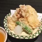 郷土料理かどや - 地タコの天ぷら(760円)