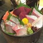 郷土料理かどや 大街道店 - 刺身3点盛り(1580円)