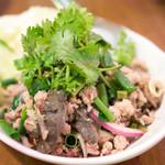 ダオタイ - 2016.7 ラープイサーン(840円)豚モツの香草和え