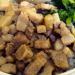 秋葉鶏排 - 「ルーローハンセット」豚バラ肉の刻み
