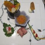 四季館 彩冬 - 前菜のアップ