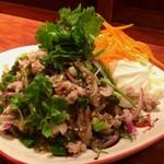 タイ東北料理イサーンキッチン - ラープ フームー (豚耳のラープ)