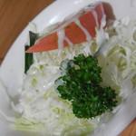 キッチン マロ - 付け合せのサラダ