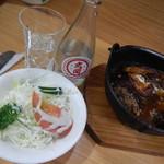 キッチン マロ - マロ風ビーフシチューとサラダ・・・日本酒!!