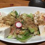魚輝水産 - 豆腐サラダ380円