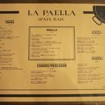 スペインバル ラパエラ - メニュー